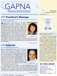 Sample GAPNA Newsletter Cover